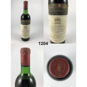 VIN ROUGE Château Mouton Rothschild 1971 - N° : 1204, Pauill