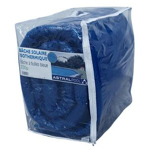 BÂCHE - COUVERTURE  Bâche à bulles bleue 230 µ ovale 9.10 m x 4.60 m