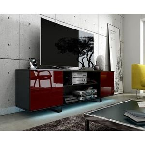 meuble tv gris laque achat vente meuble tv gris laque pas cher cdiscount. Black Bedroom Furniture Sets. Home Design Ideas
