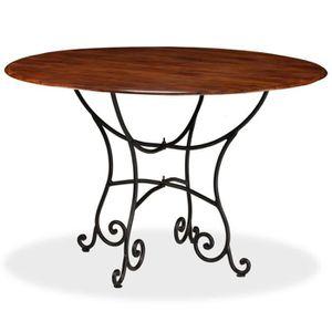 TABLE À MANGER SEULE Table de salle à manger Bois Acacia et Finition Se