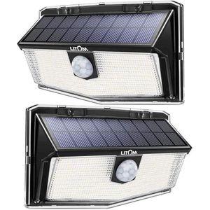 120 LED terrasse /étanche Projecteur LED avec d/étecteur de mouvement couloir patio. lumi/ère solaire /éclairage ext/érieur pour jardin lumi/ère de s/écurit/é lumi/ère solaire ext/érieure