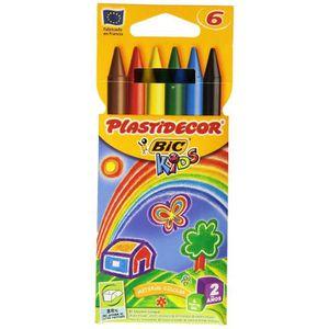 TRANSPORT LOISIRS CRÉA. Bic Plastidecor Trousse De 6 Crayons De Couleurs K