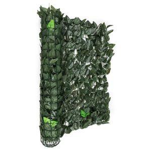 CLÔTURE - BARRIÈRE Blumfeldt Fency Dark Leaf Clôture pare-vue Paraven