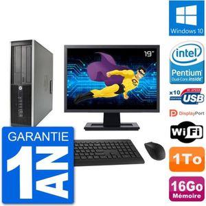 UNITÉ CENTRALE + ÉCRAN PC HP Compaq 6200 Pro SFF Ecran 19
