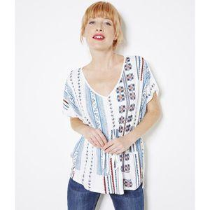 T-SHIRT Camaieu - T-shirt femme imprimé TAFNATIVE CRAIE