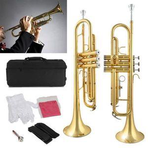 TROMPETTE AVANC Trompette Bb Kit 20 pouce Débutant Plaqué Or