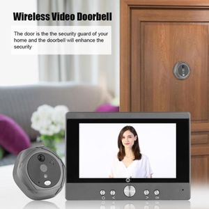 SONNETTE - CARILLON 5 pouces Wifi sans fil numérique Intercom Sonnette