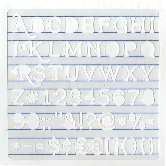 ARTEMIO Pochoir alphabet serif et chiffres