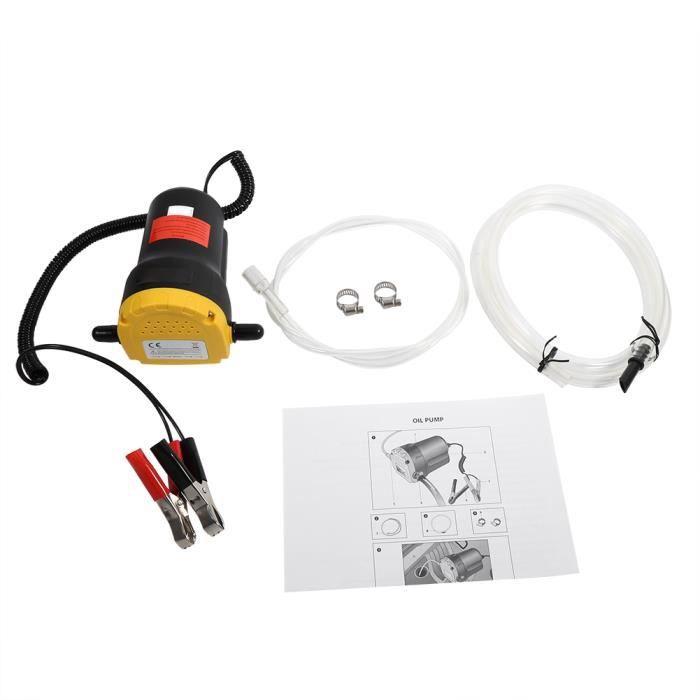 ROB® 12V Pompe d'extracteur de transfert fluide d'huile diesel aspiration électrique pour bateau moto voiture