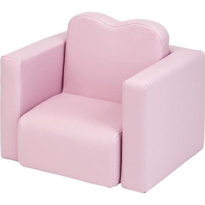 Table et chaise multifonctionnelles pour enfant - Rose