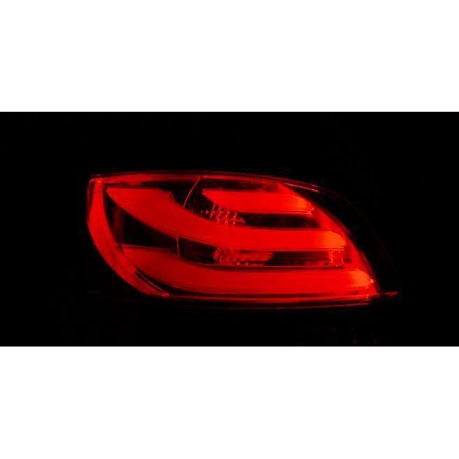 Paire de feux arriere Peugeot 206 98-06 LED BAR rouge fume