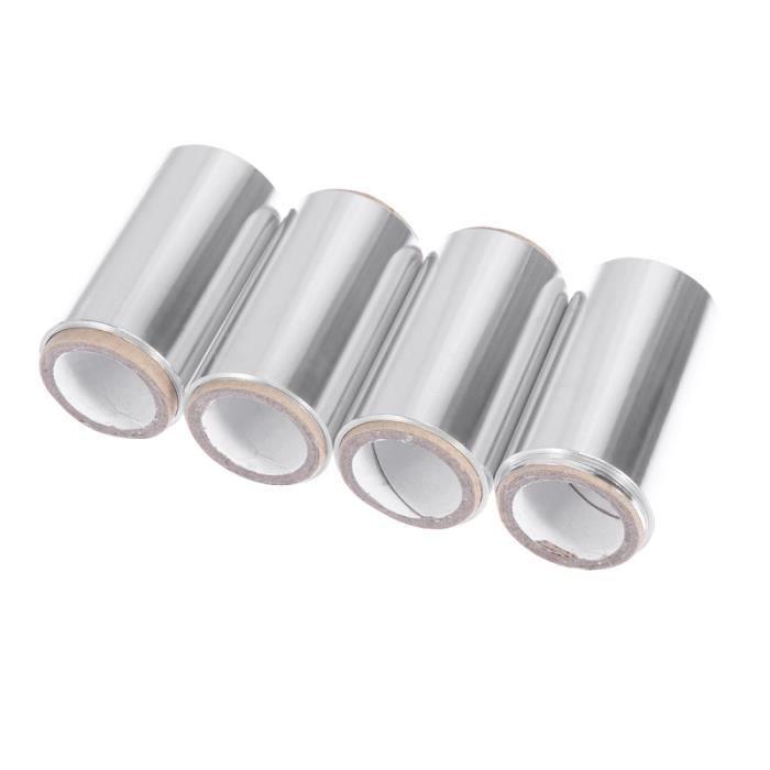 4 rouleaux de papier d'aluminium professionnel pratique imperméable jetable Perm outil de modélisation de coloration des cheveux