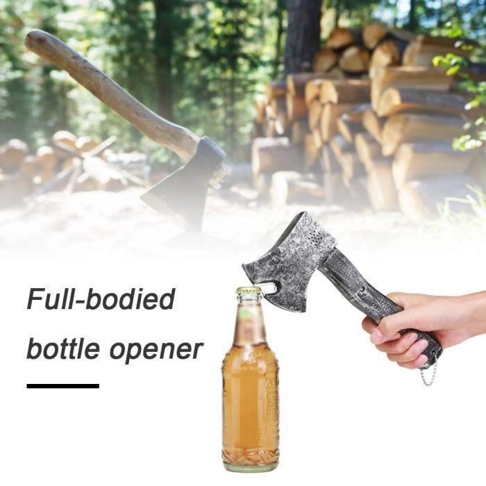 Hache Simulation Decapsuleur à Bière Créatif Ouvre-bouteille avec poignée hangable-TIRE-BOUCHON GRANG GRIS