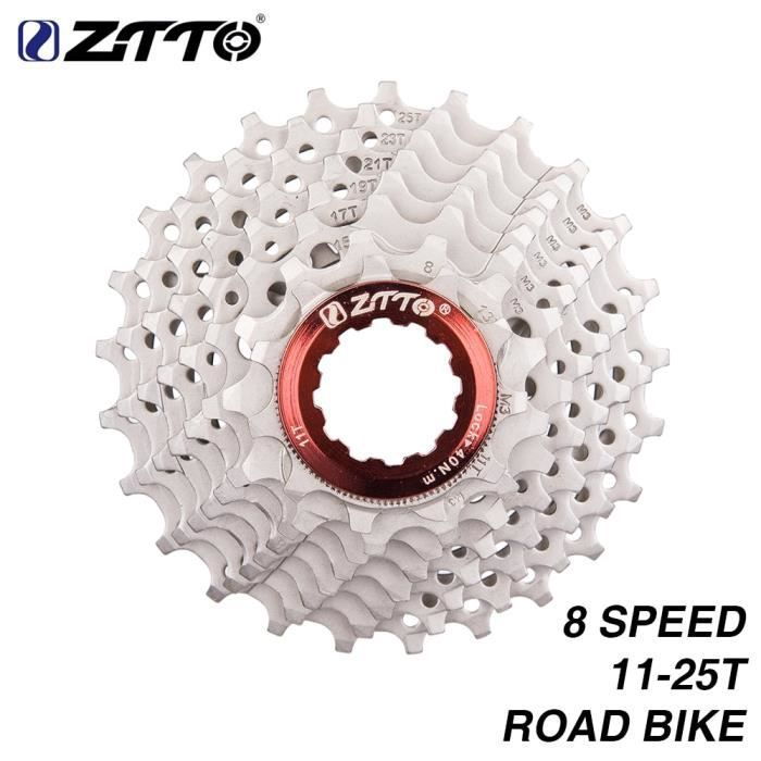 Pièce Détachée,ZTTO 8 s Cassette 11 25 T roue libre vélo de route pièces 16 s 24 s 8 vitesses pignon Compatible pour - Type Silver