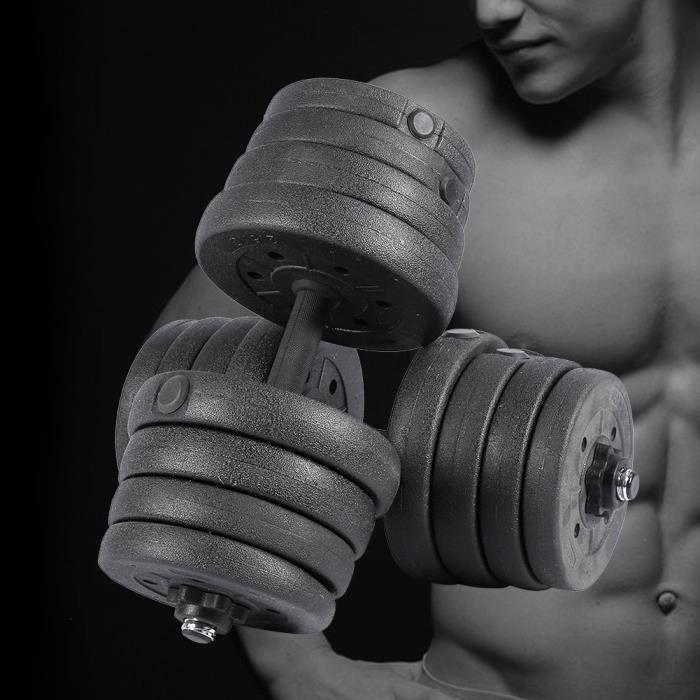 30 kg haltères mis en forme gym poids biceps triceps poids libres formation