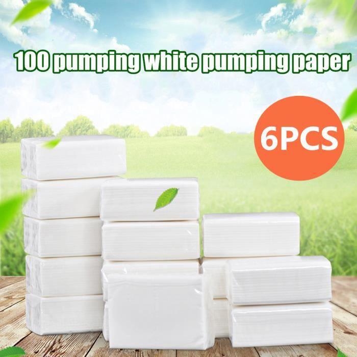 1 paquet d'essuie-mains en papier blanc paquet de 100 feuilles de serviettes en papier A2375