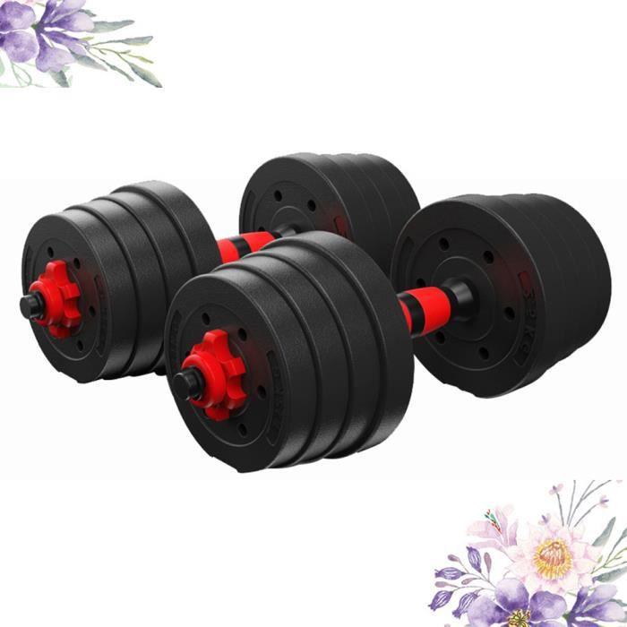 BESPORTBLE D'haltères Musculation Réglable en Fonte de 20 kg 1 paire