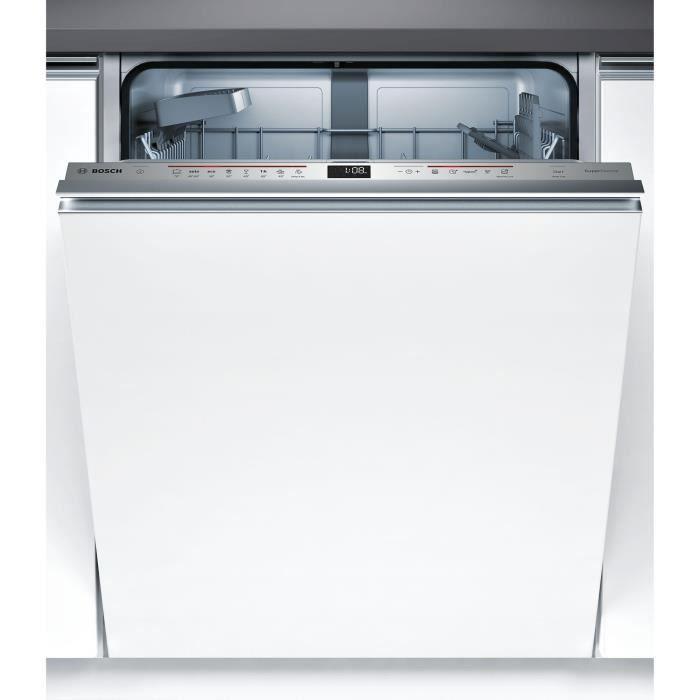 Lave-vaisselle tout encastrable BOSCH SMV68IX00E - 13 couverts -Moteur induction - Classe A+++ - 44 Db