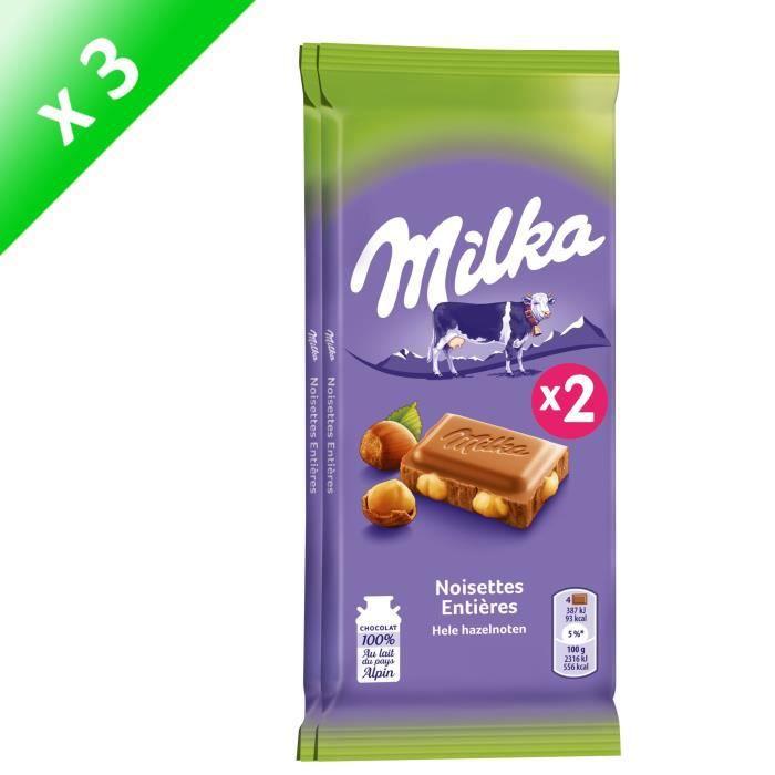 [LOT DE 3] Milka noisette 200 g Milka