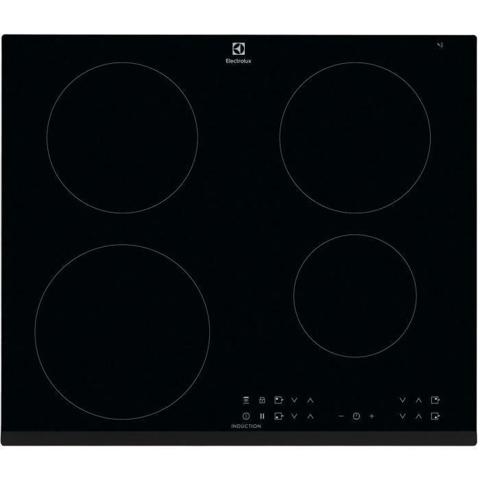 ELECTROLUX LIT6043 Plaque de cuisson induction - 4 zones - 7350 W - L 59 x P 52 cm - Revêtement verre - Noir