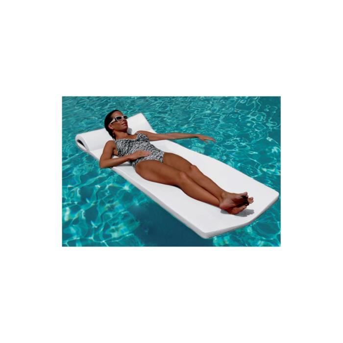 Matelas mousse Sunsation blanc 178 x 66 x 4,5 pour piscines enterrées et hors-sol
