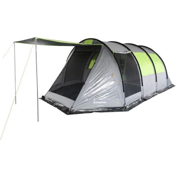 KINGCAMP - Modèle Capri - Tente Familiale 5 Personnes - 2 Chambres - Imperméabilité 5000 mm