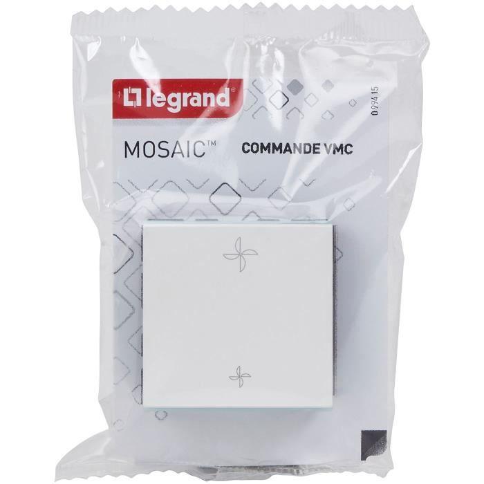 LEGRAND - Mosaic commande vmc 2 modules blanc composable