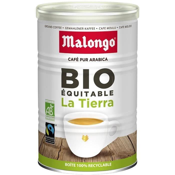 LOT DE 2 - MALONGO LA TIERRA Café moulu bio - boite de 250 g