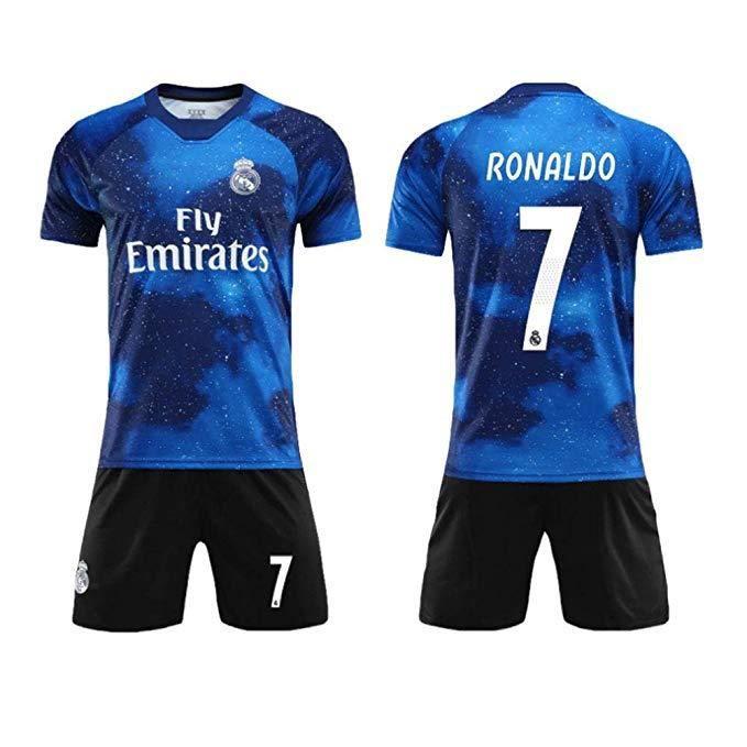 T-Shirts Football Maillots de Sport Ronaldo NO.7 Jersey Maillot et Shorts de football Homme