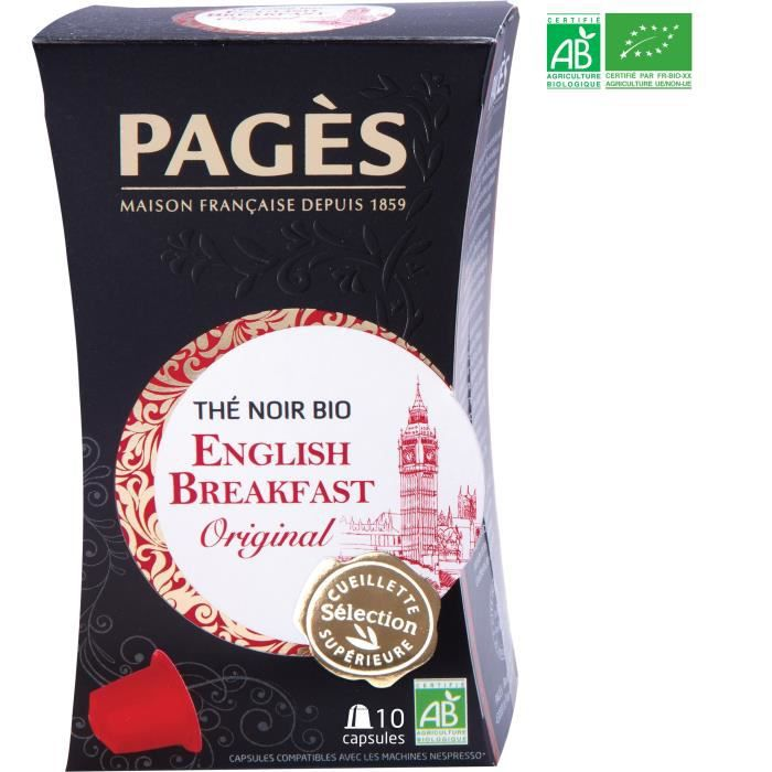 PAGES Thé Noir English Breakfast - Capsules - Bio