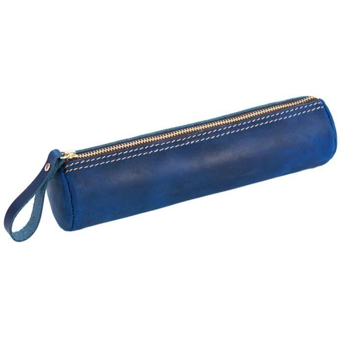 1PC sac à crayons en cuir papeterie à grande capacité étui à stylo pour enfant femmes enfants  TROUSSE DE TOILETTE - VANITY