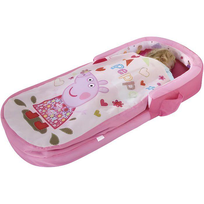 PEPPA PIG Lit d'Appoint / Sac de couchage enfant avec sac de transport ReadyBed - Worlds Apart