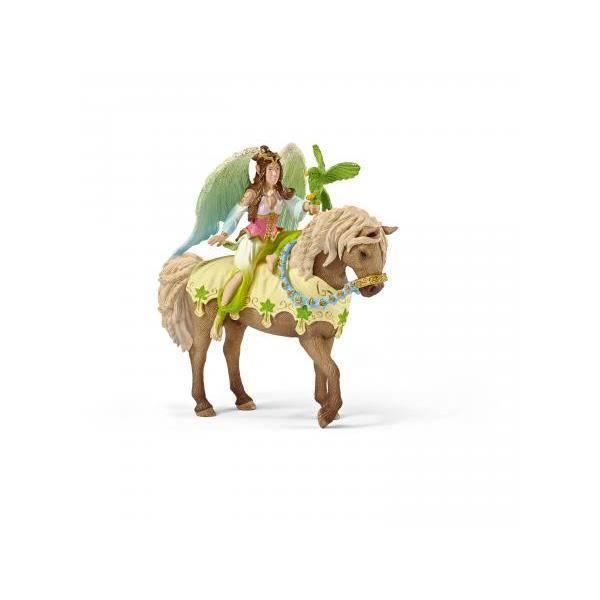 Schleich Figurine 70504 - Bayala Elf Monde des Elves - Surah en habits de cérémonie, à cheval
