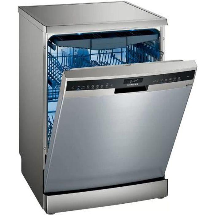 Lave-vaisselle pose libre SIEMENS - SN25ZI49CE - 60cm - 14 couverts - 42 dB - Inox