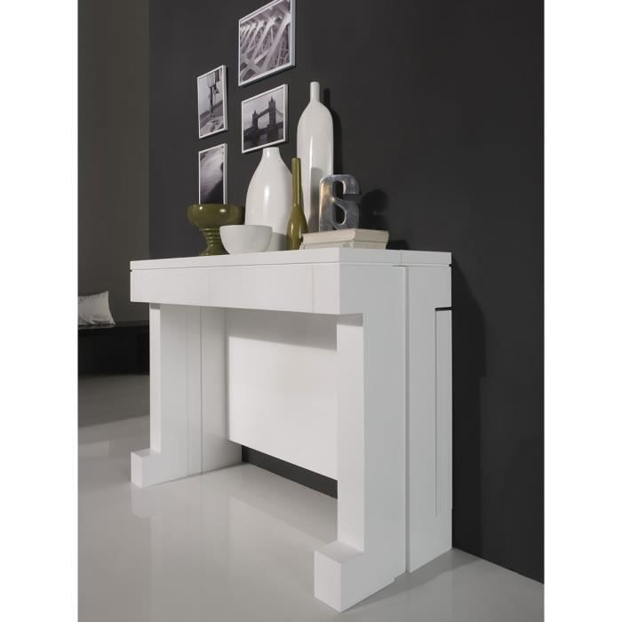 Table manger transformable console