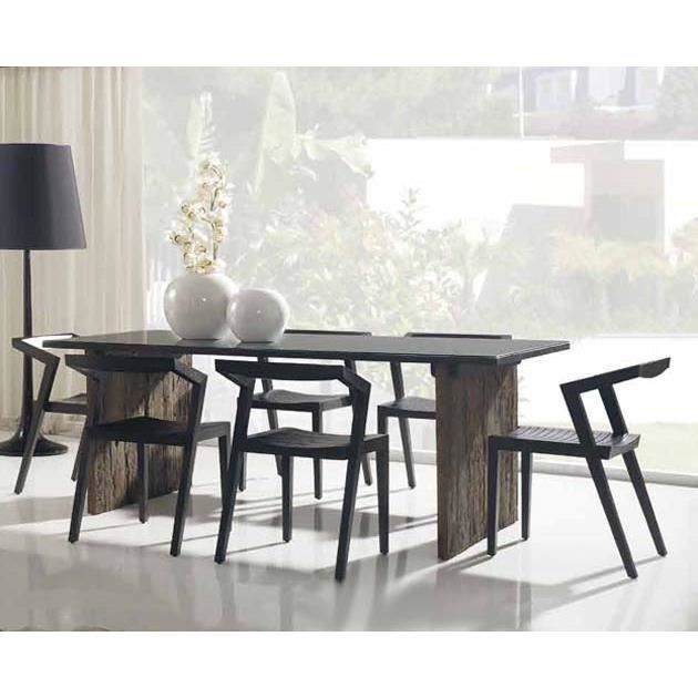 table en bois pour salles manger mod le tah achat. Black Bedroom Furniture Sets. Home Design Ideas