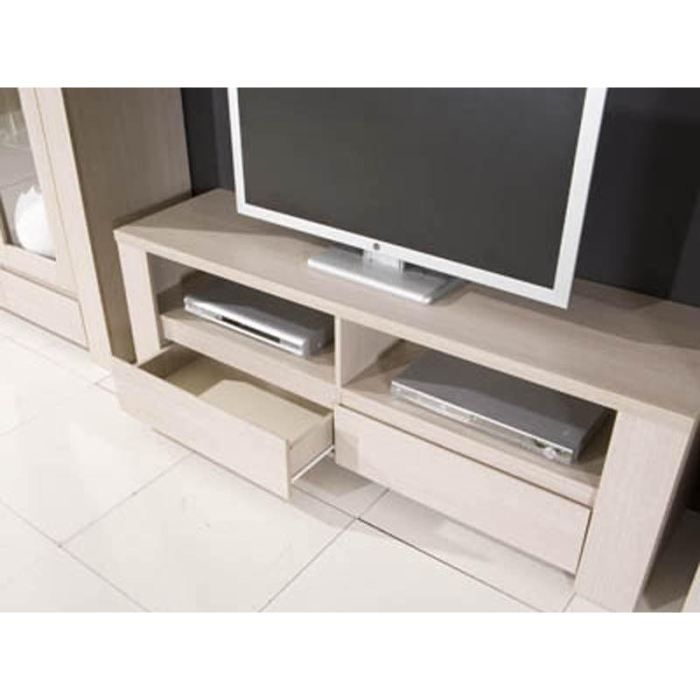 meuble tv 2 tiroirs couleur bouleau achat vente meuble tv meuble tv metz cdiscount. Black Bedroom Furniture Sets. Home Design Ideas