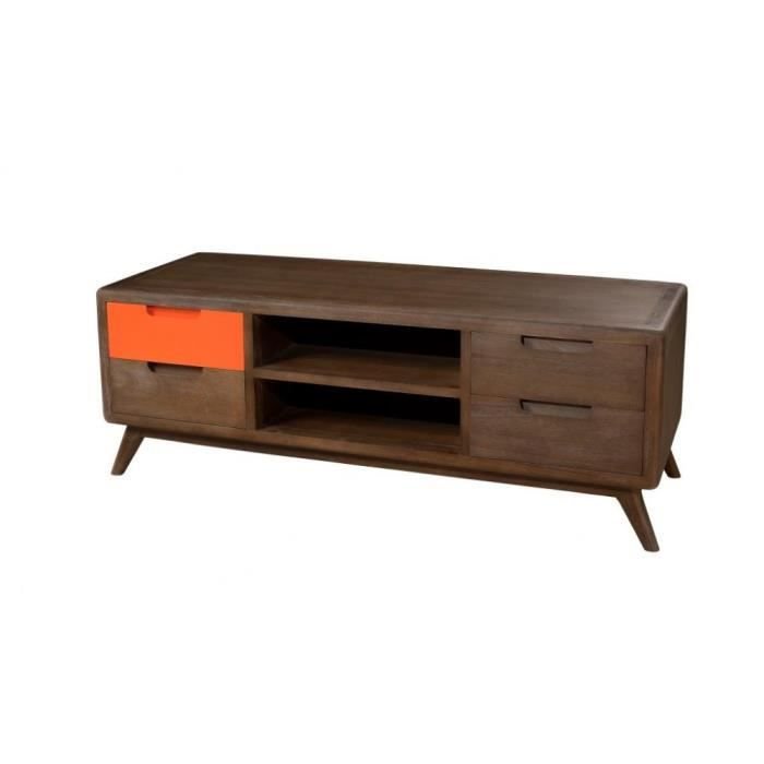 bali meuble tv en mindi cannelle et orange verni 120 cm achat vente meuble tv bali meuble. Black Bedroom Furniture Sets. Home Design Ideas