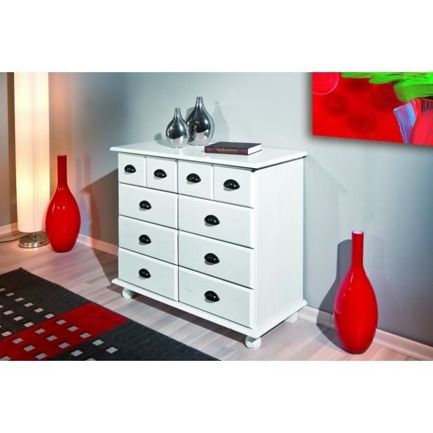 commode apothicaire 8 tiroirs pin massif tein achat vente commode de chambre commode. Black Bedroom Furniture Sets. Home Design Ideas
