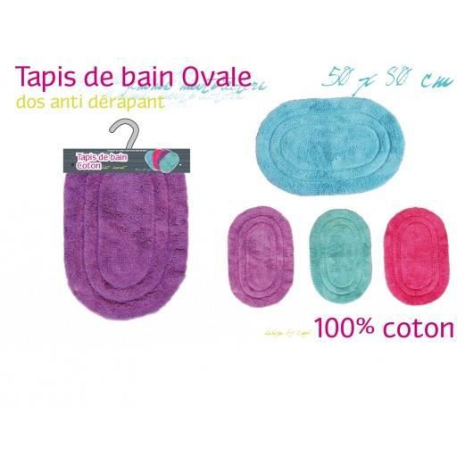 tapis ovale coton vert achat vente tapis de bain cdiscount. Black Bedroom Furniture Sets. Home Design Ideas