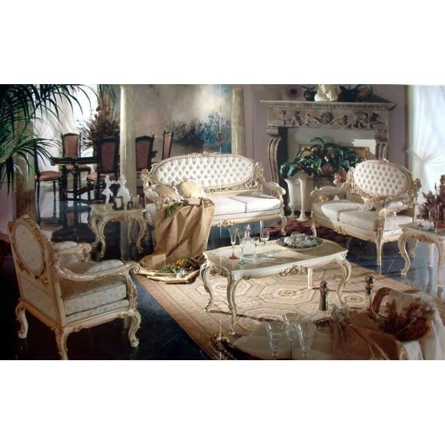 Baroque Salon Sofa 2er 3er Table Chaise Vp0870 De Style Antique
