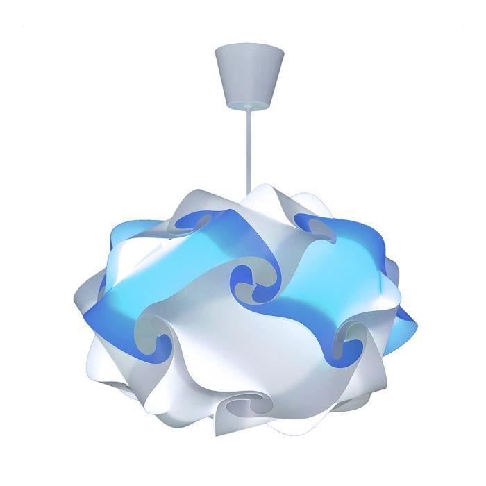 CREATIV LAMP - Suspension Luminaire | Lustre à Suspendre au Plafond |  Décoration Salon, Chambre Enfant, Ado, Adulte | Ø40 cm - Bleu