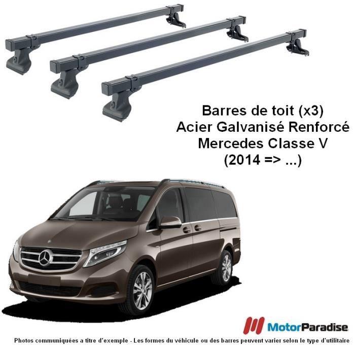 Pour Mercedes Classe V w447 à partir de 2014 dachreling GRIS ALU Courte Avec TÜV Abe