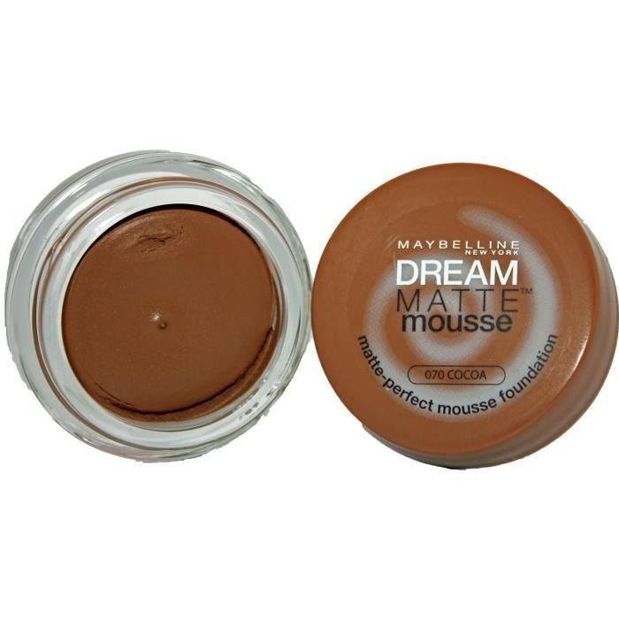 FOND DE TEINT - BASE Gemey-Maybelline - Dream Mat Mousse - Fond de tein