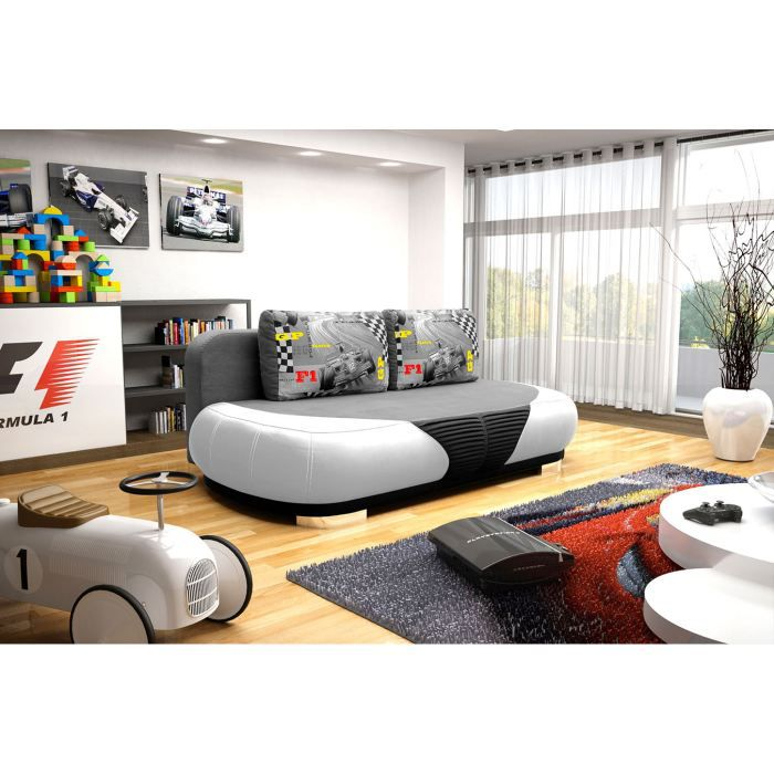 canap convertible pour enfant gt blanc achat vente. Black Bedroom Furniture Sets. Home Design Ideas