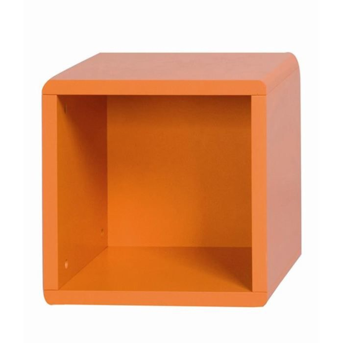 cube 1 case orange id 39 clik achat vente petit meuble rangement cube 1 case orange id 39 clik. Black Bedroom Furniture Sets. Home Design Ideas