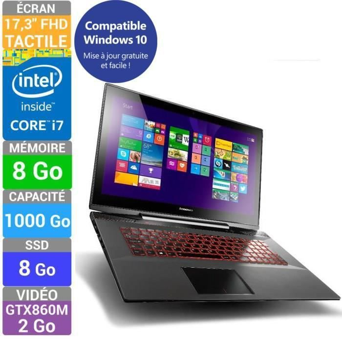 lenovo pc portable tactile gamer y70 70t core i7 17 3 achat vente ordinateur portable. Black Bedroom Furniture Sets. Home Design Ideas