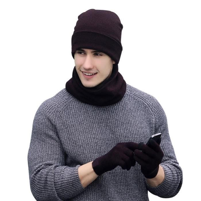 CHAPEAU - BOB D'hiver Tricotés Ensemble bonnet Tricoté Écharpe G