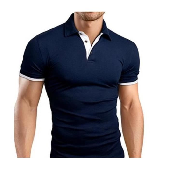 Polo homme manches courtes Marine T-shirt
