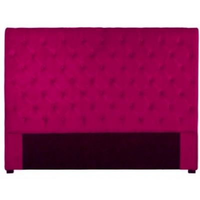 t te de lit capitonn e 160 cm velours fushia achat vente t te de lit cdiscount. Black Bedroom Furniture Sets. Home Design Ideas